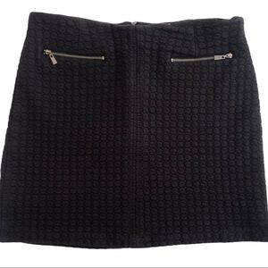LAUNDRY BY SHELLI SEGAL Quilted Knit Black Skirt